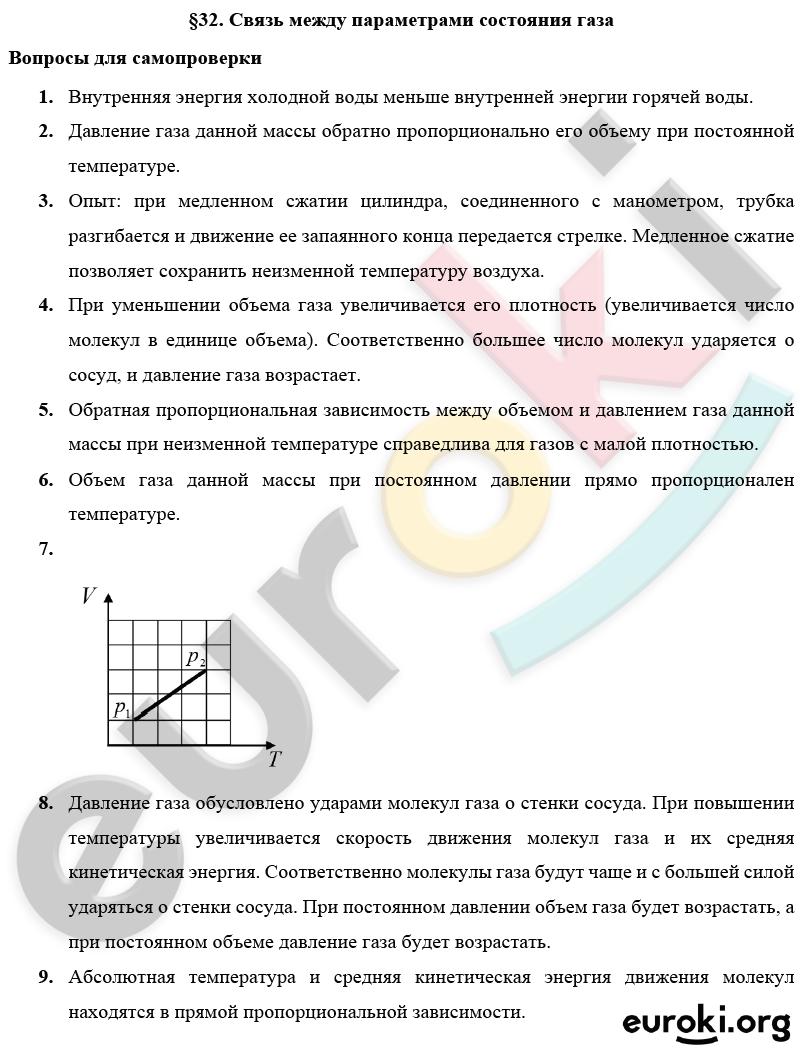 Вопросы к параграфам: № 32 - решение